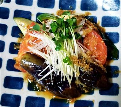 なす&トマト&ズッキーニ温野菜のサッパリサラダ