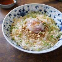 夏のアレンジ素麺|簡単|【柚子香るイカの塩辛と納豆のぶっかけ素麺】