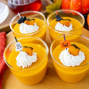 【業務スーパー】混ぜて冷やすだけ!簡単かぼちゃプリン