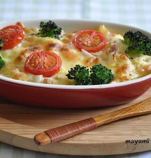 豆腐を使った節約献立~ヘルシー豆腐グラタン。野菜サラダ。オニオンスープ。~