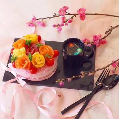 雛祭り♪♪女の子のための寿司ケーキ