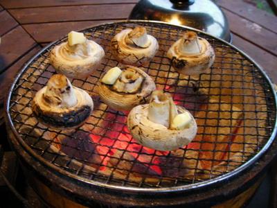 ジャンボマッシュルーム焼き