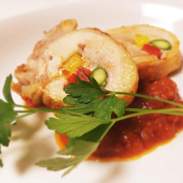 チキンのインボルティーニ〜トマトソース