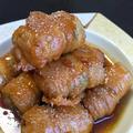 ごはんがすすむ。高野豆腐の豚バラ巻きのてりてり。