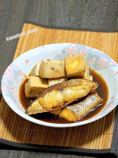 どっちかというと豆腐がメイン「鯛と豆腐の煮つけ」&「京清水 しげもり」の美味しい天丼