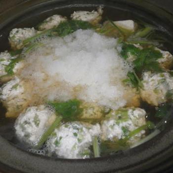 せりつくね鍋・料理レシピ