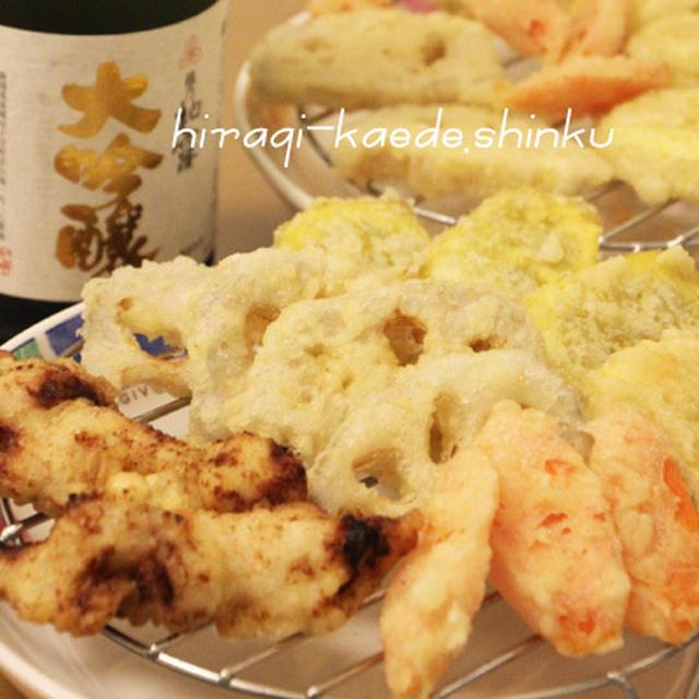 軽い衣でさっくり天ぷら♡塩麹鶏天&ちぃのお芋でさつまいも料理いろいろ♪