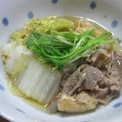 豚肉、白菜、油揚げの含め煮 柚子風味