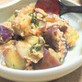 梅しそでサッパリ♪ 茄子と鶏挽き肉の梅味噌あん  &青もみじの「霧中庵 音和そば」