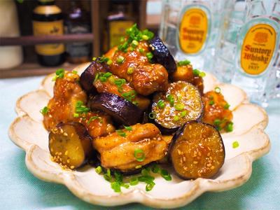 【レシピ】鶏もも肉とナスの甘酢炒め!