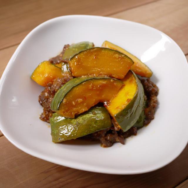 牛肉とかぼちゃの豆板醤炒め