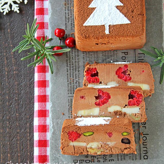 クリスマスツリーアイスケーキ☆チョコセミフレッド