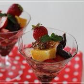 ミントジェリー☆チョコレートフルーツパフェ