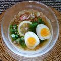 冷やし鶏そう麺&冷たいだし巻き卵もイイネ!