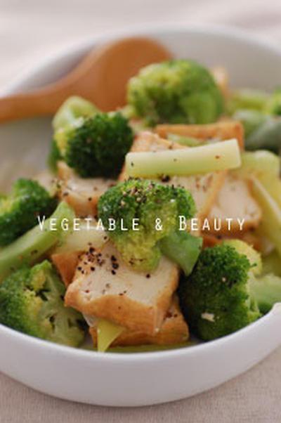 【若】 ブロッコリーと厚揚げの炒め物
