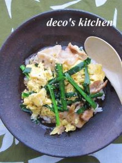 ふんわり卵と豚ニラのあんかけ丼。