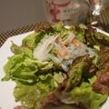 ノンマヨでヘルシー、しらたきでスパサラ、美作鹿肉のスパゲッティーニ