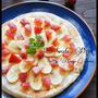 [捏ねない!発酵なし!] フライパンでスイーツピザ と 年末年始のダラダラ