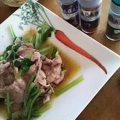 雪室豚と小松菜の香りソティ
