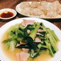 レンジで簡単!小松菜のめんつゆバター煮 小松菜の効能効果 レンジで作る晩御飯