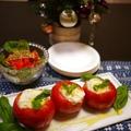 クリスマスに☆モッツァレラチーズとトマトのオーブン焼き by とまとママさん