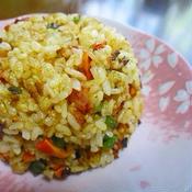 ガラムマサラで減塩炒飯