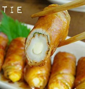 【おつまみに!】☆簡単☆肉巻きチーズちくわの照り焼き