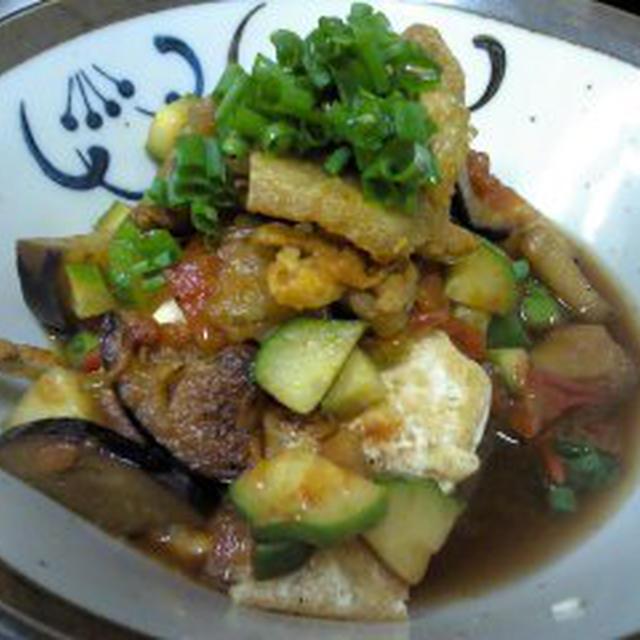 企画レシピ夏野菜たっぷりボリューム豆腐