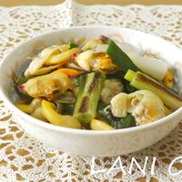 青柳と葉玉葱のさっと煮