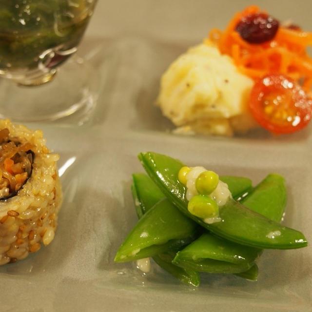 塩麹deスナップエンドウのプリプリ前菜