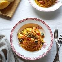 鶏肉とズッキーニのトマトクリームパスタ <ボーソー米油部>