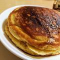 【ふわふわ・もっちり食感】バナナとヨーグルトのホットケーキ【クルミ入り】