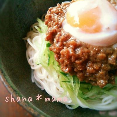 七夕には素麺♪我が家自慢の甘辛肉味噌素麺♪