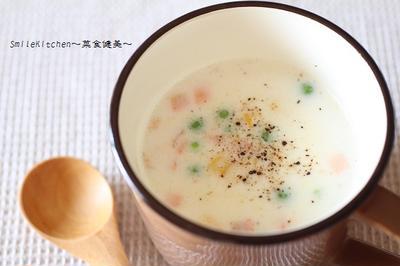 レンチンでミルクスープ