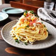 【作りおきサラスパ】デリ風 カニかまとオニオンのサラダスパ〜チーズちくわなの海苔巻きフライ〜