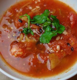 雑穀とトマトのスープ