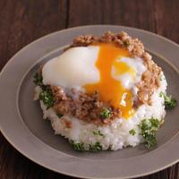 【レシピ】豚ひき丼の温玉のせ