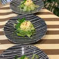 おもてなしにスライスキュウリとポテトサラダでおしゃれな一品を!!