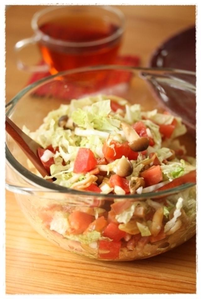 白菜とベーコンのしゃきしゃきサラダ