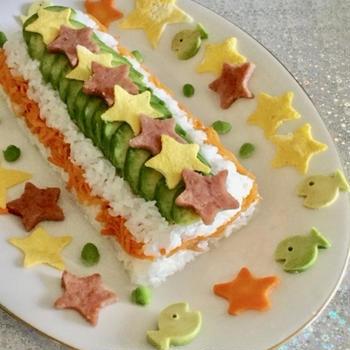 くらしのアンテナ・星がきらめく☆七夕寿司ケーキ掲載のお知らせ