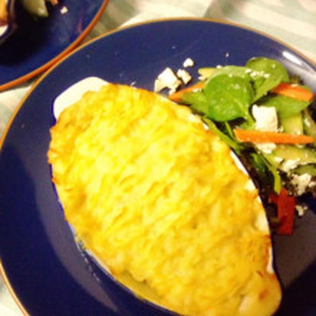 クリスマスパーティにも☆チーズのマッシュポテトでアツアツふーふーフィッシュパイ。