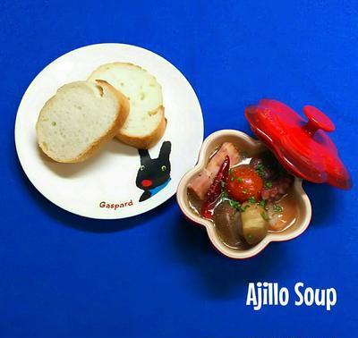 具だくさん♪アヒージョスープ