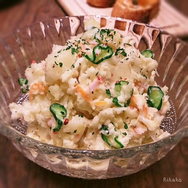 冷凍きゅうり活用♪冬のポテトサラダ
