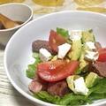 本日の管理栄養士レシピ☆お家飲みに♪アボガド&ステーキのデリサラダ♪ by 管理栄養士はるさん