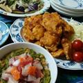 節約うまレシピ!海鮮ねばねばめかぶ納豆丼、鶏むね肉の唐揚げ、揚げなすのポン酢サラダ
