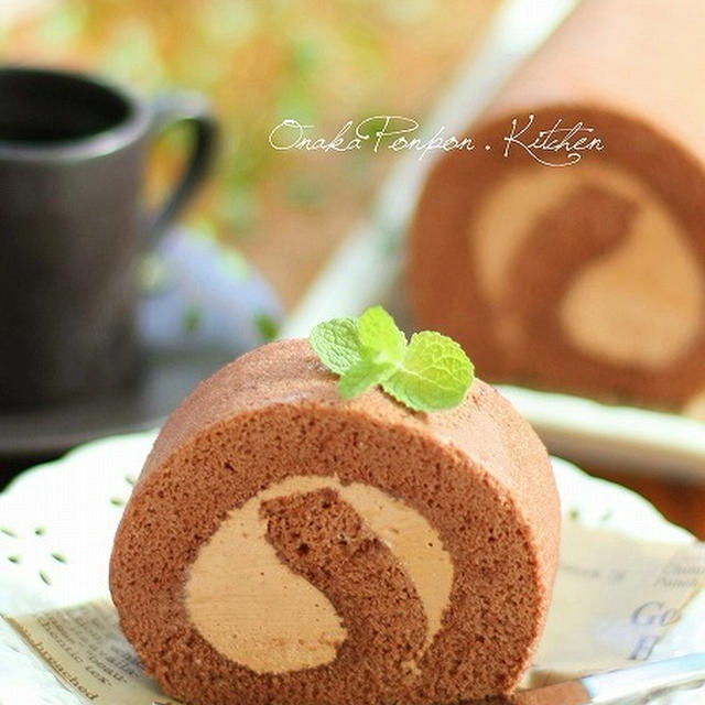 ■ココアのふわふわ♡チョコロールケーキ