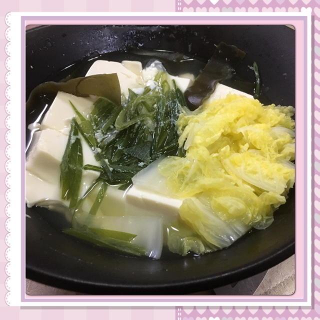 ダイエットにオススメ、湯豆腐