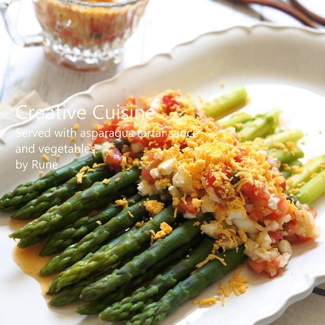 おうちで楽しむ旬の味☆アスパラガスの自然派タルタルソース風