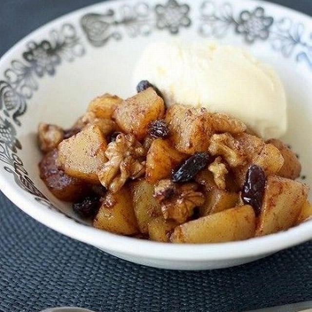 林檎と胡桃のカラメルスパイス煮 & アレンジマフィン