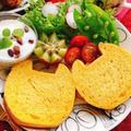 【国産小麦】人参パンでねこねこ食パン(動画レシピ)
